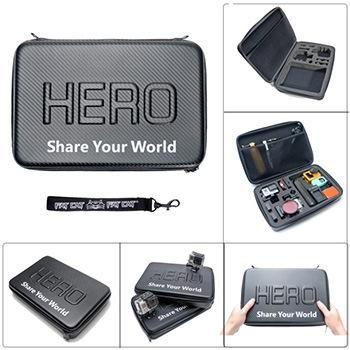 2015 New Arrival Gopro Case Hero 4/3/2 Waterproof Bag For 3+ Carbon Fiber Bag(32 X 22x 7 Cm)(China (Mainland))
