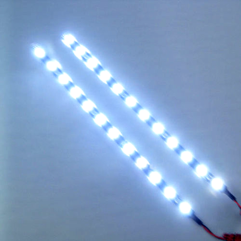 2pcs/lot White Flexible Waterproof Lights High Power Car Auto Decor Flexible LED Strips Lamps EC062(China (Mainland))