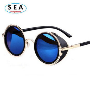 SEA STEAMPUNK Retro COATING mens vintage round SUNGLASSES Men women brand designer gafas OCULOS de sol feminino Sun GLASSES s004