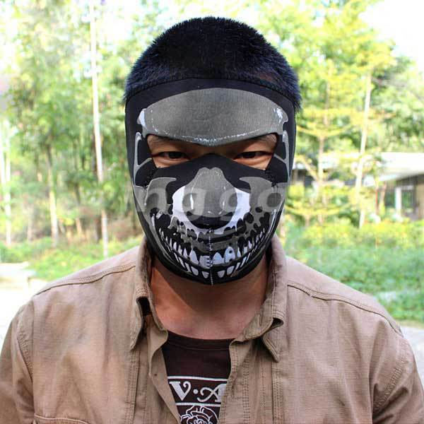 FoxCove Winter Protective Outdoor Ghost Skull Face Guard Windproof Masks(China (Mainland))