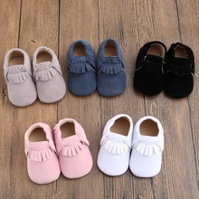 2016 New Fashion Newborn Baby Boy Girl Kids First Walkers Shoes Suede Leather Infants Toddler Baby Moccasins Soft Moccs Shoes(China (Mainland))