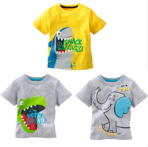 Гаджет  Free Shipping Baby Kids Boys Cartoon Tops T-shirt Age 1-6 Years None Детские товары
