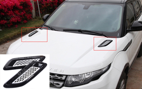 ABS Chrome Roof Hood Air Flow Decorative Engine Vent Cover For Range Rover Evoque 2011 2012 2013 2014 2015,Car Accessory(China (Mainland))