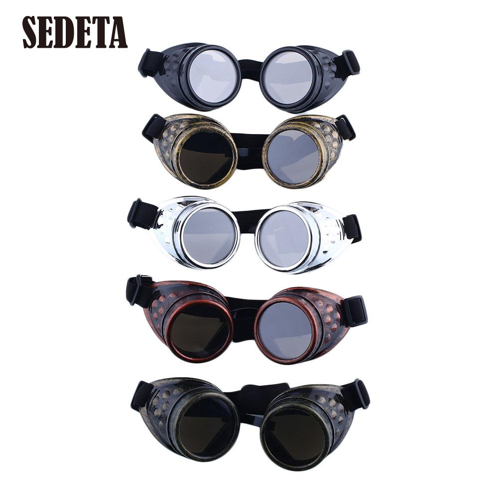 Vintage Victorian Steampunk Goggles Glasses Welding Cyber Punk Biker Gothic Lens Cosplay Brand New Glasses(China (Mainland))