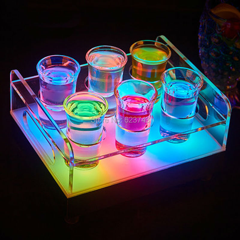 rechargeable multicolor Plastic led shot glass holder--Slong Light (4)