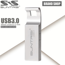 Suntrsi USB Flash Drive 64GB Metal USB 3.0 Pen Drive Customized Logo Pendrive USB Stick High Speed USB Flash 64GB Flash Drive(China (Mainland))