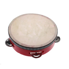 Toy Musical Instrument Hand Durm Educational Musical Instrument Mini Hand Drum Children Tambourine Red(China (Mainland))