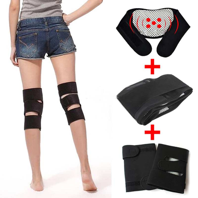Tourmaline Belt For Health Care Pain Relief Neck Waist Tourmaline knee Self Heating Magnetic Therapy Massager Supports(China (Mainland))
