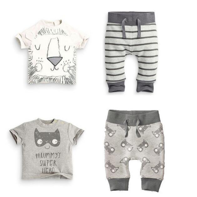 BB227 2016 прекрасные дети устанавливает одежда для новорожденных дети мальчик лев ...
