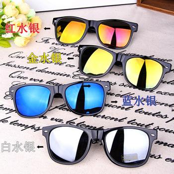 1 пара новый урожай летом солнцезащитные очки зеркало линзы солнцезащитные очки UV 400 защита солнцезащитных очков мужчин женщины очки