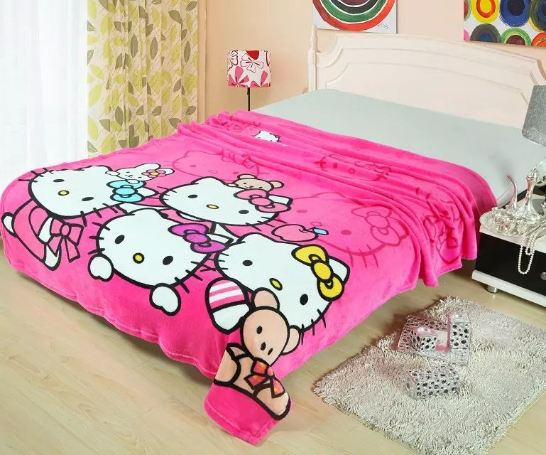 Air conditioning blanket super soft flannel cartoon nap coral fleece leisure blanket, freeshipping - LaLa's Kids fashion store