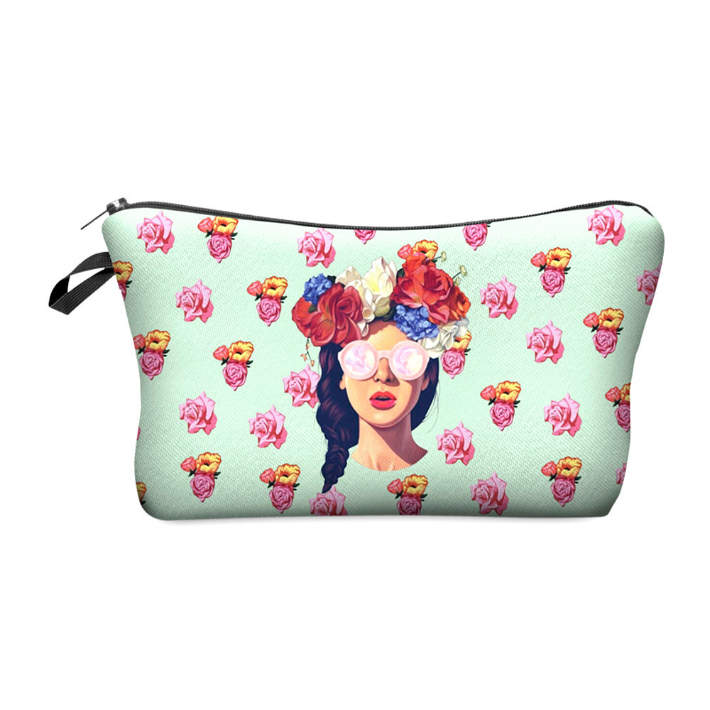 Zohra 2016 New 3D Printing font b Makeup b font Bags With Multicolor Pattern Cute font