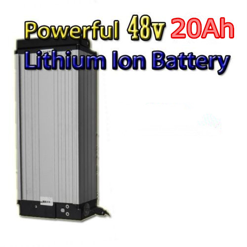 Electric bike lithium battery 48v 20ah with charger , ebike battery 48v 20ah for electric bicycle(China (Mainland))