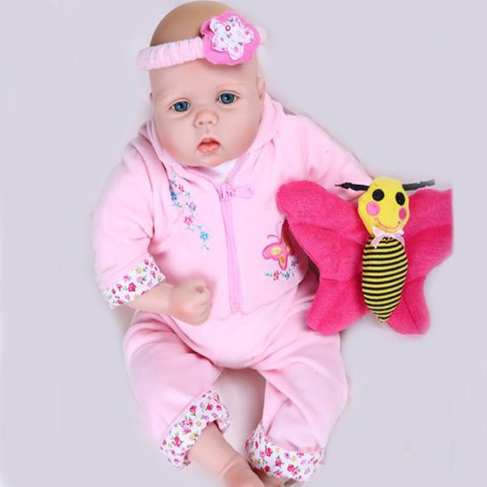 51cm Reborn Dolls Girl Princess Lifelike Cute Dolls Silicone Reborn Babe Kid's Toys Playmates Sleeping Brinquedos Babies Boneca(China (Mainland))