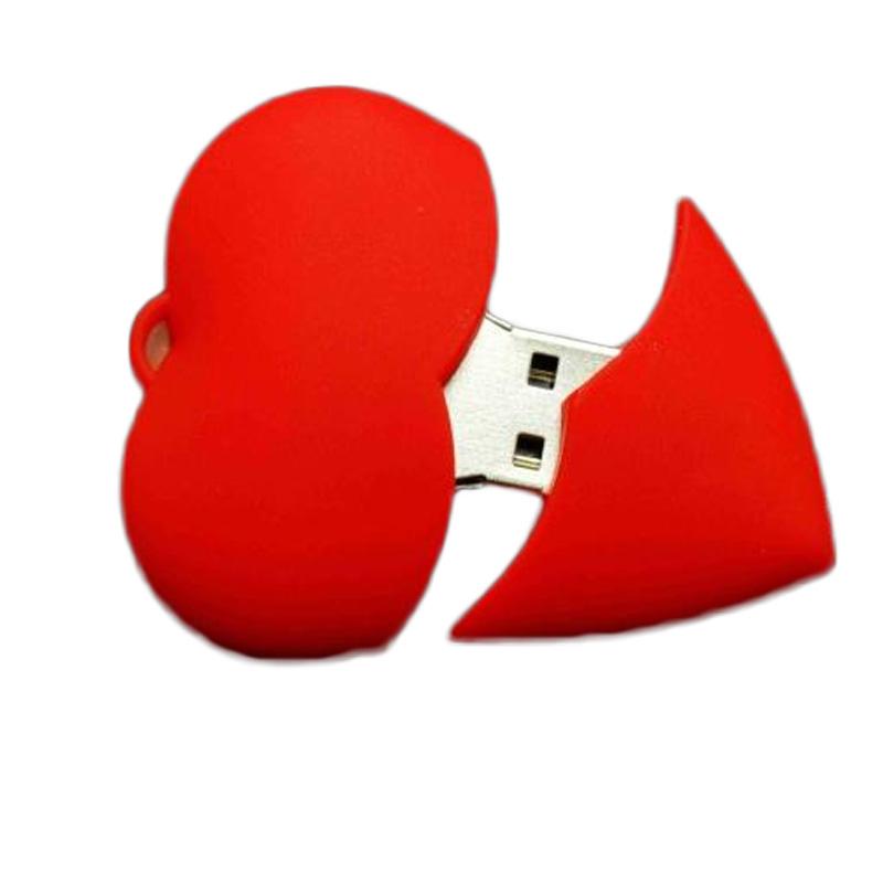 Full Capacity Red Heart Pen Drive USB Flash Drive64GB 32GB 16GB 8GB 4GB Pendrive U Stick USB 2.0 Memory Stick(China (Mainland))