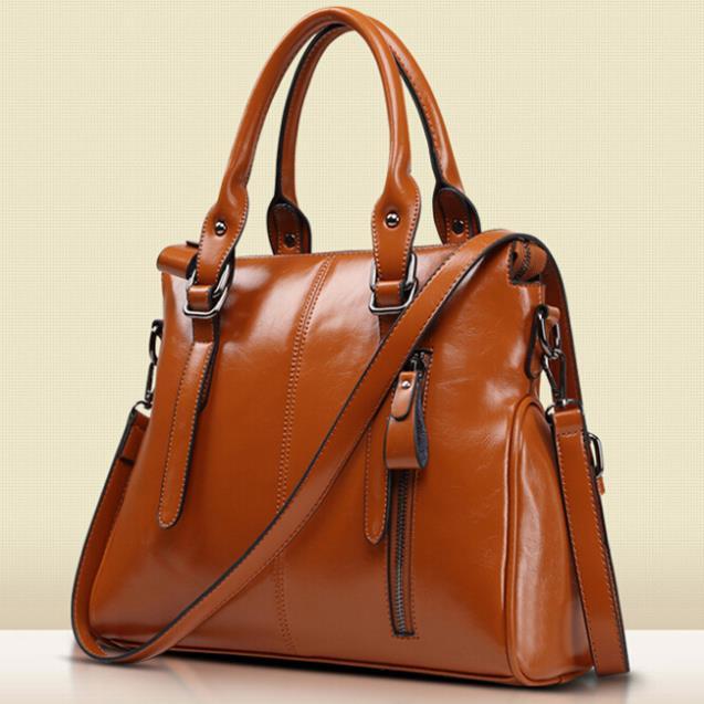 Fashion Women Leather Handbag Vintage Shoulder Bag Messenger Bags Genuine Tote Bolsas Crossbody - REDBERRY WOMEN LEATHER BAGS STORE store