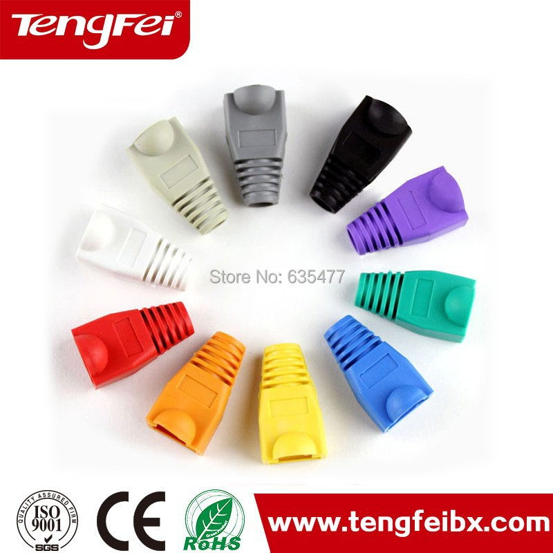 best quality 100pcs/bag RJ45 plug boot rj45 connector boots rj45 cable boots with cheap price(China (Mainland))