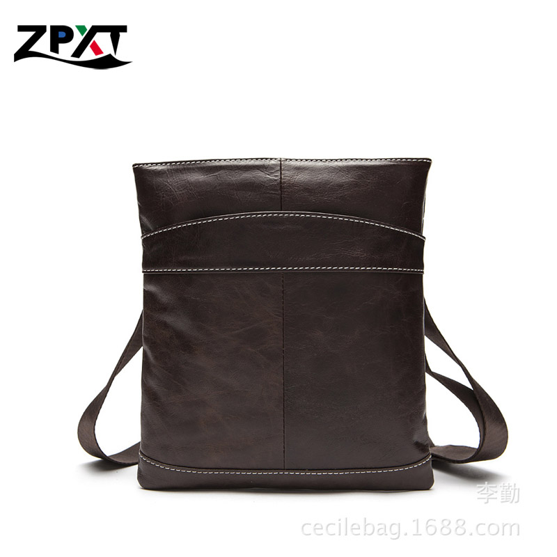 2016 Genuine Leather Men's Bag Men messenger Bag Fashion Brand Men Business Crossbody Bag Single Shoulder Bags Support Wholesale(China (Mainland))