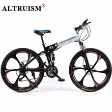 Buy Altruism X6 Mountain bike 21 speed Men folding 26 inch Bicycles Full Suspension Mountain Bikes Frame Black kids Road Bicycle for $280.71 in AliExpress store