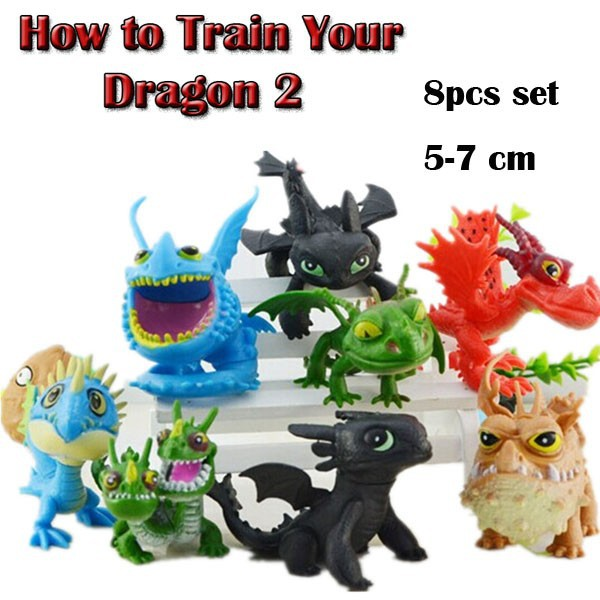 DHL Shipping 12 sets How to Train Your Dragon 2 Solid Set Dolls Mini PVC Action Figure Collection Model Toy Gift (8pcs per set)<br><br>Aliexpress