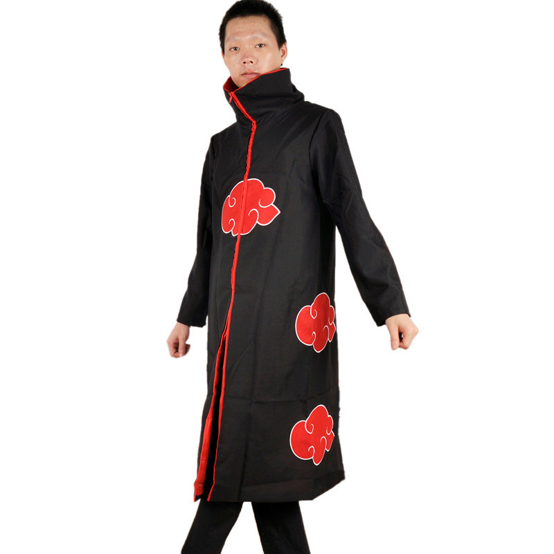 1 pc 9 size S-XXXLPlus Size kids adult naruto cosplay costumes anime party Naruto Akatsuki Uchiha Itachi Cosplay Cloak Hooded
