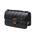 Vintage Designer Chain Bag Women Classic Rhombic Chequer Gorgeous Shoulder Bag Ladies Stylish Plaid Hand held