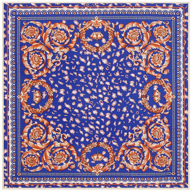 100 см * 100 см саржевые шелковый женщины 100% шелковая цветочный узор лепесток листьев высокое качество шарф мусульманский хиджаб B116