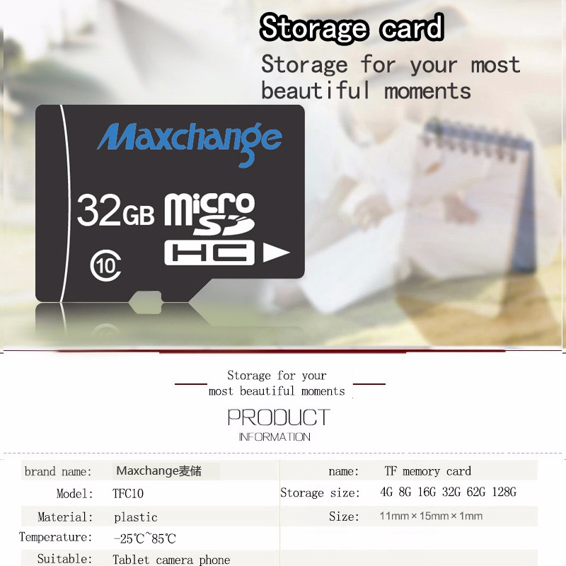 High-Speed Memory Card Tachograph Mobile Action Cmaera Dedicated Micro Sd Tf Card 4g 8g 16g 32g 64g Real Capacity Flash Card