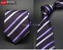 20 style Formal business wedding Classic men tie stripe grid 8cm Silk corbatas Fashion Accessories men