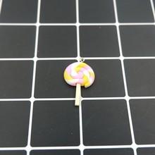 Kawaii Lollipop dijes colgantes para DIY decoración pulseras collar pendiente llavero joyería hacer amuleto de la suerte(China)