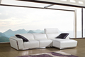 High quality living room sofa in promotion genuine leather sofa corner sofa + arm chair + armless chair