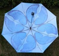 бросился рыбалка kidss-автоматический взрослых дождя зонтики моды бабочка печати 3 складной