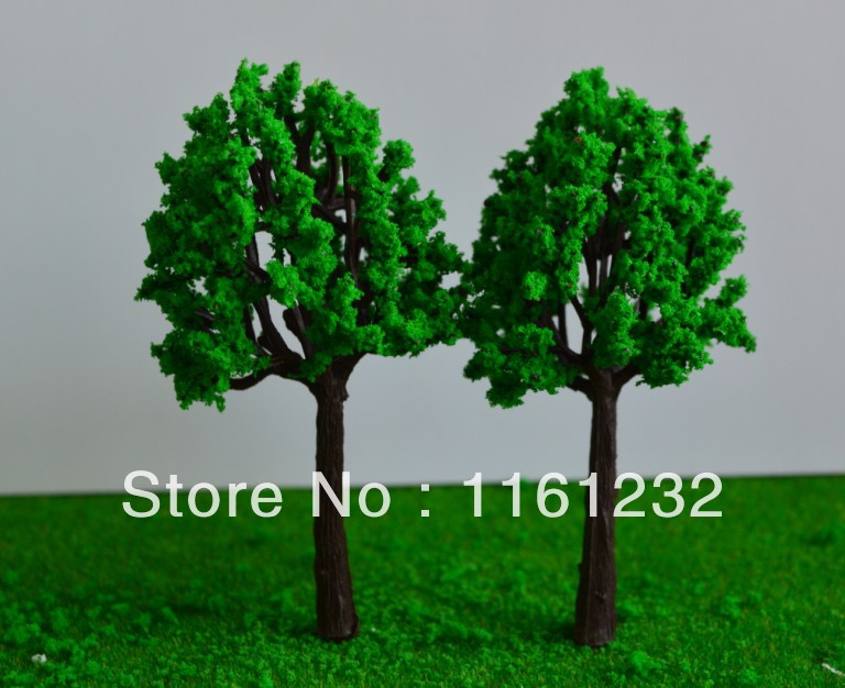 2014 wholesale Miniature Architectural Model Tree real plastic green pine  tree<br><br>Aliexpress