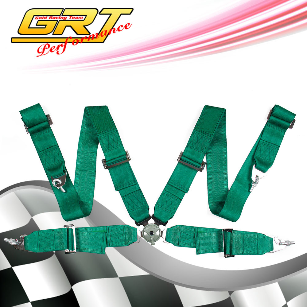 GRT - Racing Seat Belt with 4pcs FIA 2018 Homologation Harness Satefy Seat Belt/width:3 inches/4Point MPH341(China (Mainland))