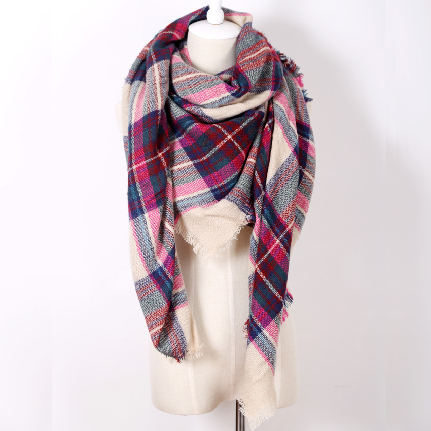 Гаджет  za winter 2014 scarf plaid new designer unisex acrylic basic wrap shawl women female Spring fall Cashmere Christmas gift Factory None Одежда и аксессуары