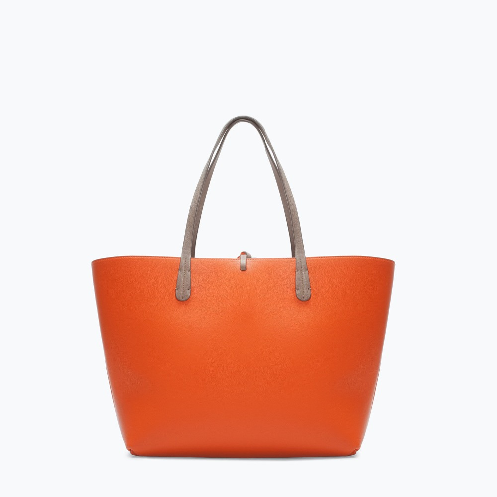 New selling ZA Double side PU leather Women bags Fashion Shoulder Handle Bags for Women With candy color shopping tote Bolsos(China (Mainland))