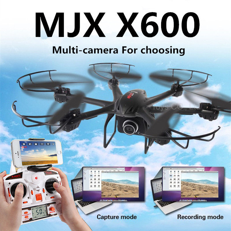 Free Shipping Newest MJX X600 2 4G 6 Axis 3D Roll Quadcopter 720P C4008 FPV wifi