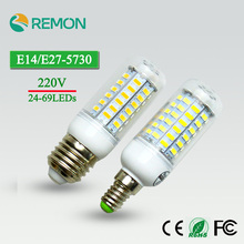 Buy 24/36/48/56/69LEDs Super LED Corn Bulb 5730 SMD E27/E14 220V LED Lamp Bulb Superlight Chandelier LED Spot Bulb for $1.10 in AliExpress store