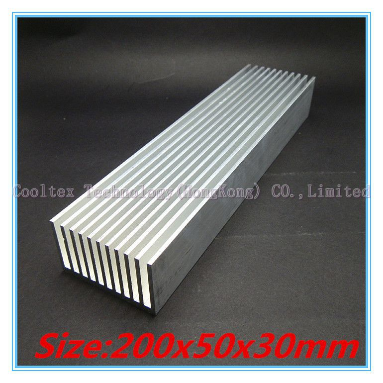 High power 200x50x30mm radiator Aluminum heatsink cooling  for LED Electronic computer heat dissipation<br><br>Aliexpress