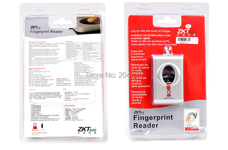 Free Shipping Digital Persona Fingerprint Reader DigitalPersona USB Biometric Fingerprint Scanner URU4000B W/ CD Drive Software(China (Mainland))