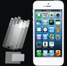 New 3pcs/lot CLEAR LCD Screen Protector Guard Cover Film for Apple iPhone 5 5C 5S