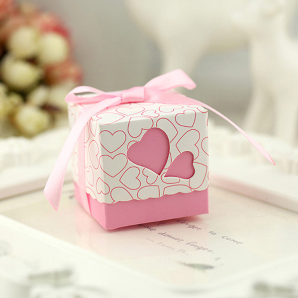 Free Shipping 100pcs Square Wedding Favor Boxes Wedding Candy Box Casamento Wedding Favors And Gifts Event & Party Supplies(China (Mainland))