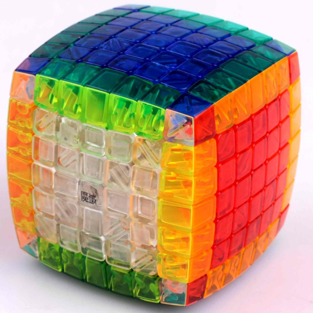 [Speed Demon Cube Store] MoYu&YJ(YongJun) Aofu 7x7x7 Stickerless Clear Body for Speed Cube toys magic Cube Puzzle(China (Mainland))