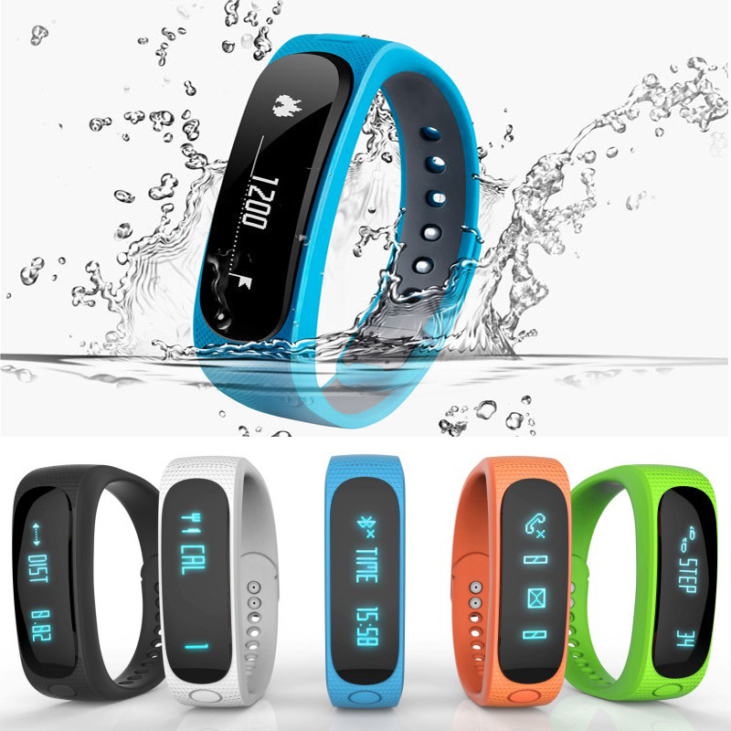 New E02 Smartband Smart bracelet Wristband Fitness tracker Bluetooth 4 0 fitbit flex Watch for ios
