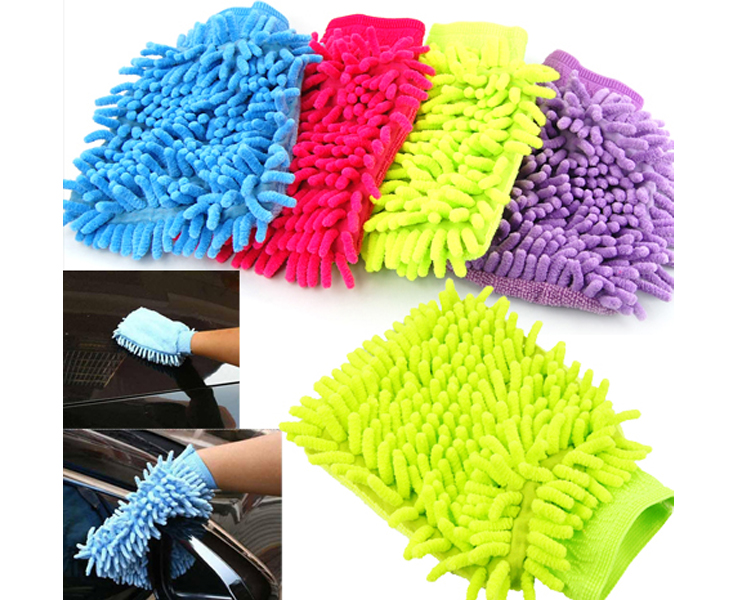 Car Microfiber Auto Truck Cleaning Wash Mitten Clean Mitt Brush Gloves Free shipping(China (Mainland))