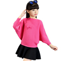 Kid Spring and Autumn Clothing Girl Slim Long Pullover Cardigan Turtleneck and O-Neck Versatile Sweater