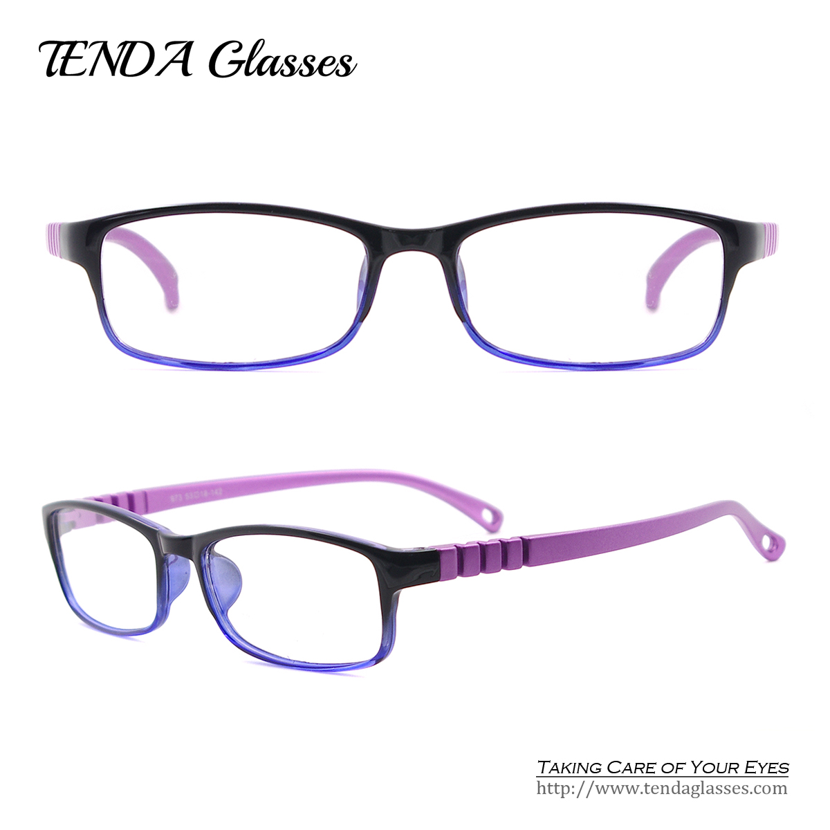 fashion colorful tr90 lightweight oval spectacles