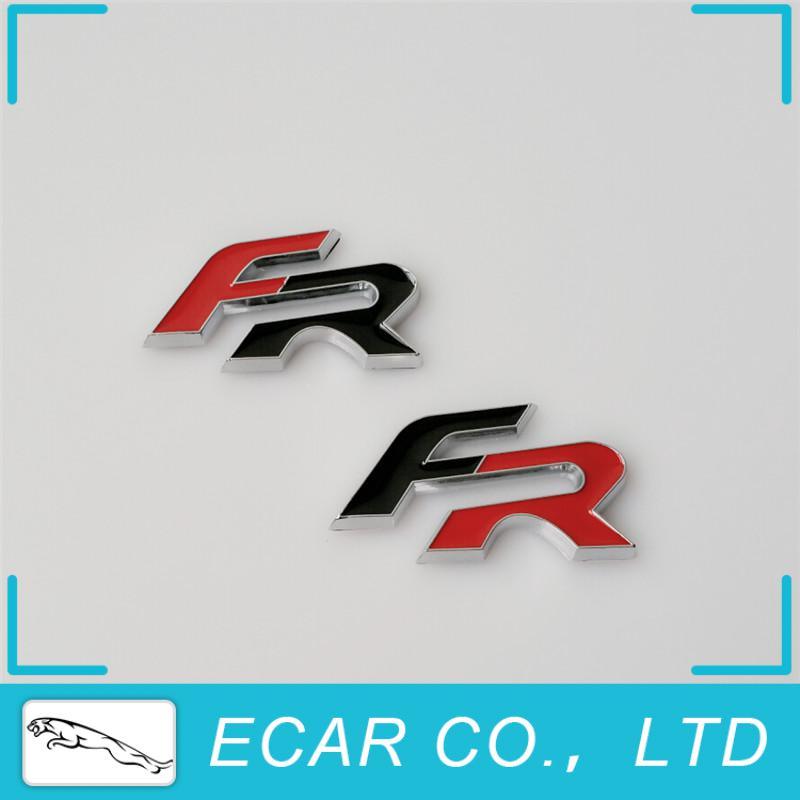 Car Styling 3D SEAT FR Chrome Car Emblem Badge Sticker Auto Decoration Decal Logo For Ibiza Leon Altea IBE Toledo Exeo IBL IBX(China (Mainland))