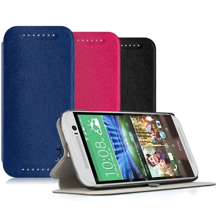Genuine Brand IMAK Joy Happiness Series Elegant Leather Folio Stand holder Case Cover HTC one 2 M8 - Mico communication co.,ltd store