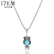 New Fashion hot sale Vintage Bohemia Ethnic style Bohemia Owl Pendants Necklace Turquoise Statement Necklace jewelry 2014 M13